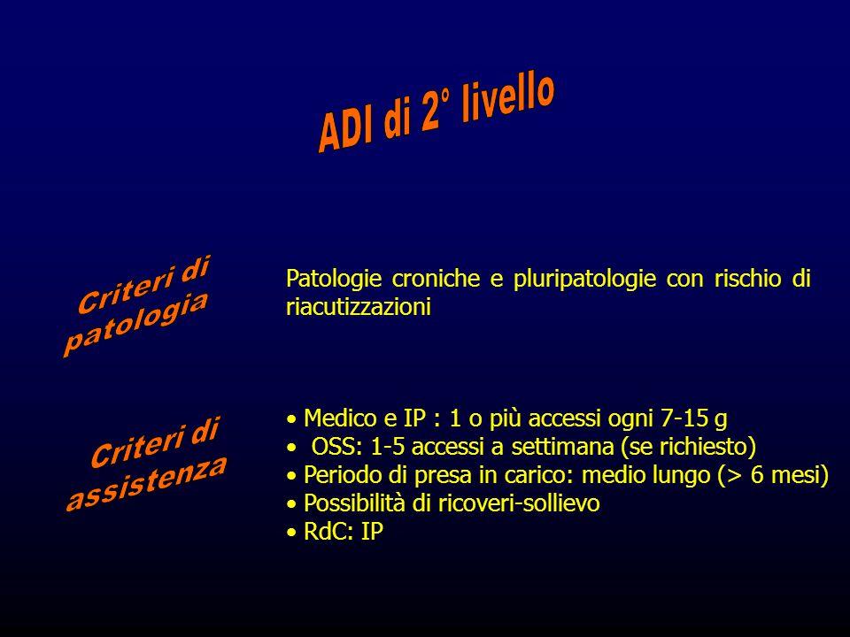 ADI di 2° livello Criteri di patologia