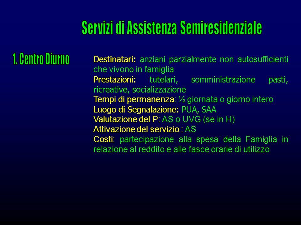 Servizi di Assistenza Semiresidenziale