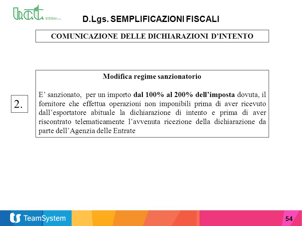 2. D.Lgs. SEMPLIFICAZIONI FISCALI