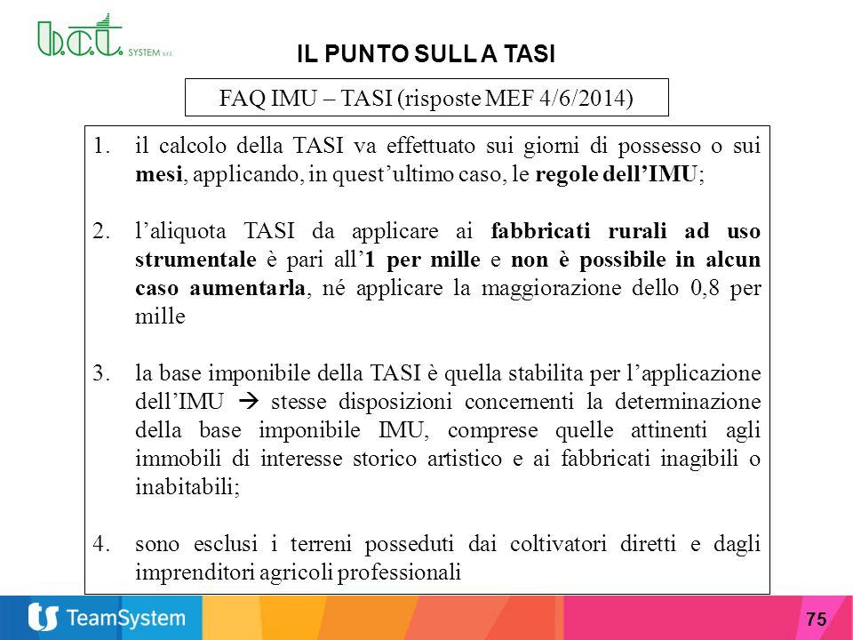 FAQ IMU – TASI (risposte MEF 4/6/2014)