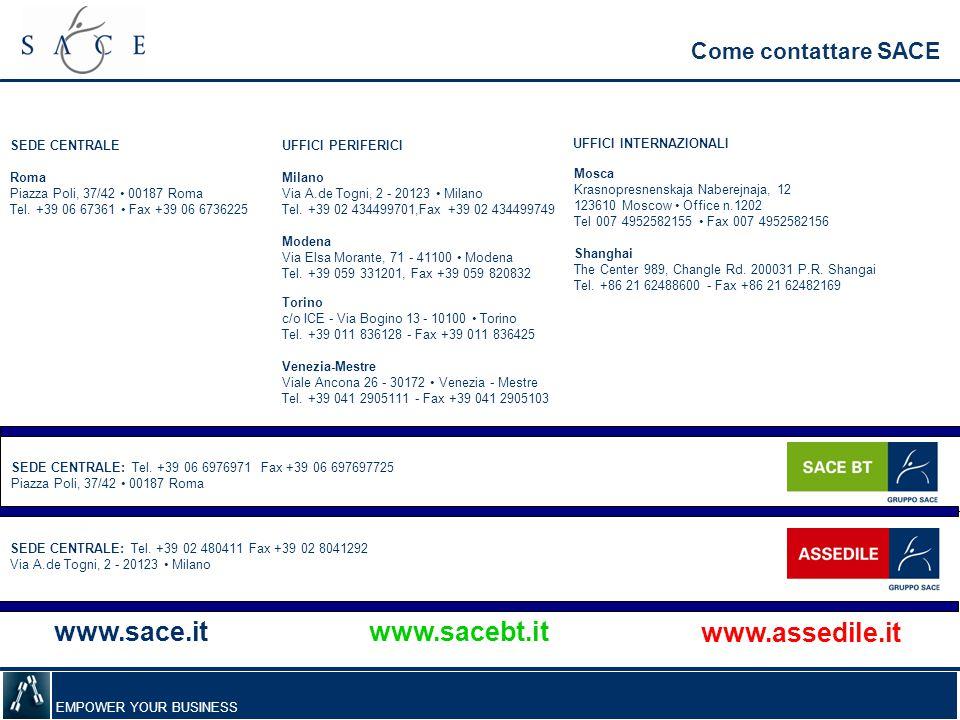 www.sace.it www.assedile.it