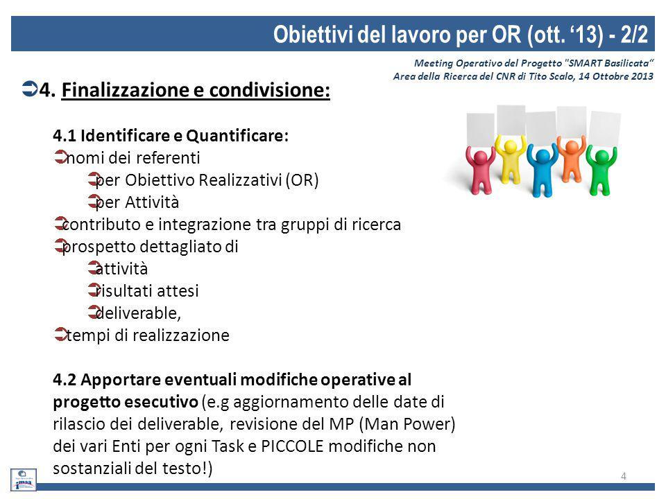 Obiettivi del lavoro per OR (ott. '13) - 2/2