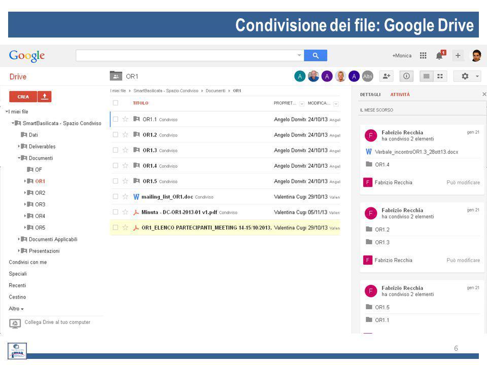Condivisione dei file: Google Drive