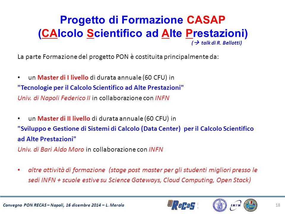 Progetto di Formazione CASAP (CAlcolo Scientifico ad Alte Prestazioni)