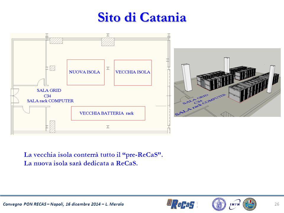 Sito di Catania La vecchia isola conterrà tutto il pre-ReCaS .