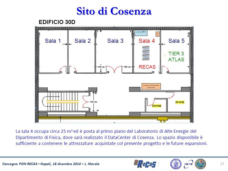 Sito di Cosenza Sala 2 Sala 1 Sala 5 Sala 4 Sala 3 EDIFICIO 30D TIER 3