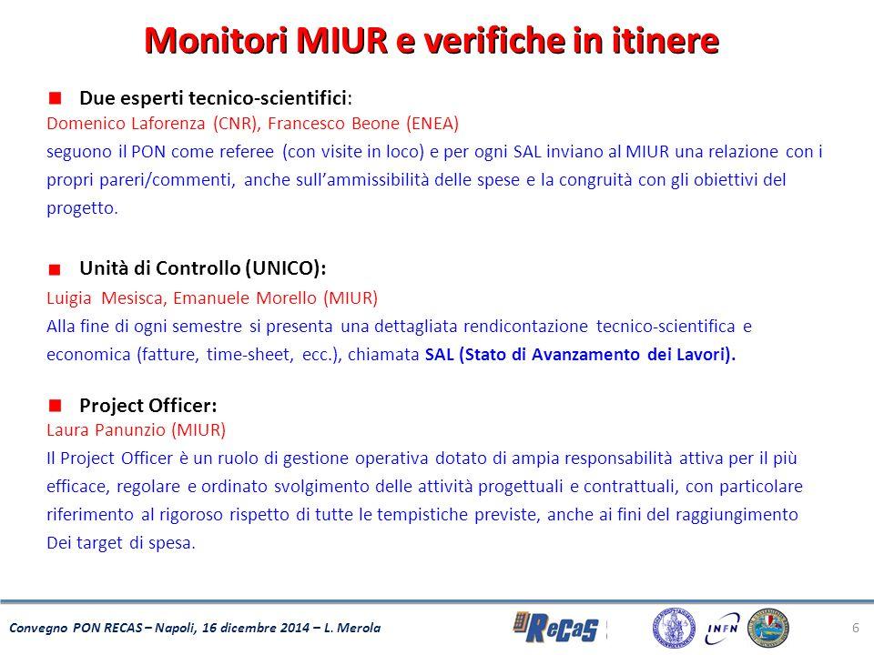 Monitori MIUR e verifiche in itinere