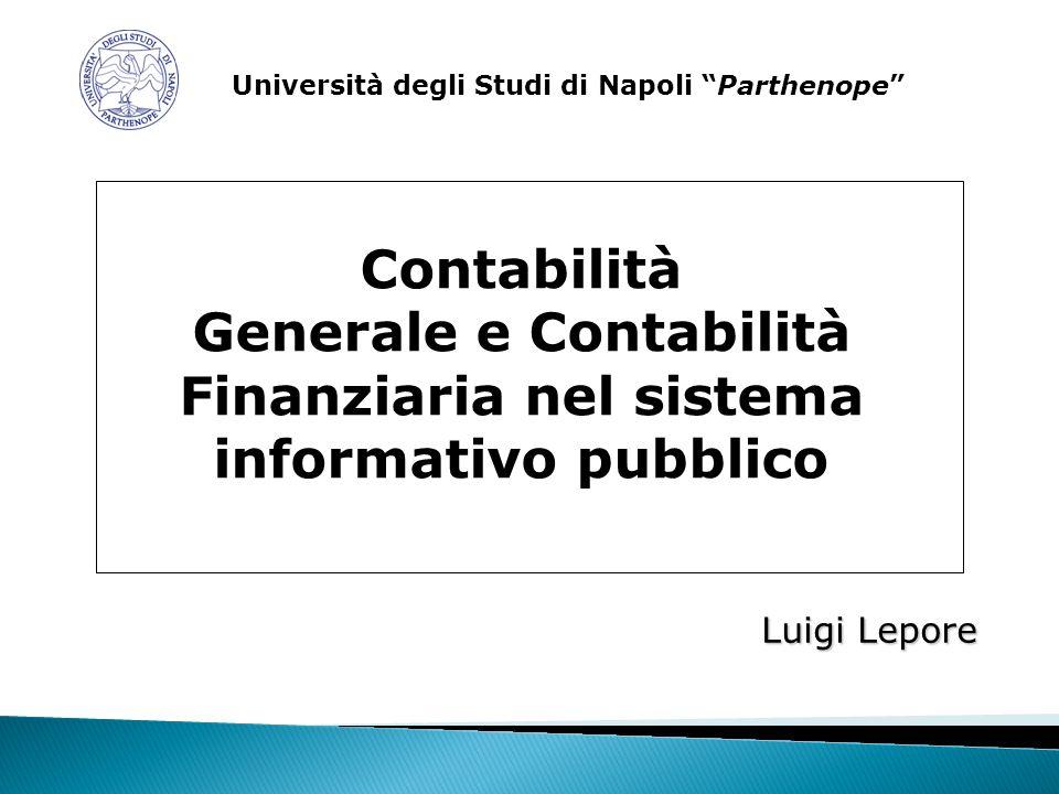 Generale e Contabilità Finanziaria nel sistema informativo pubblico
