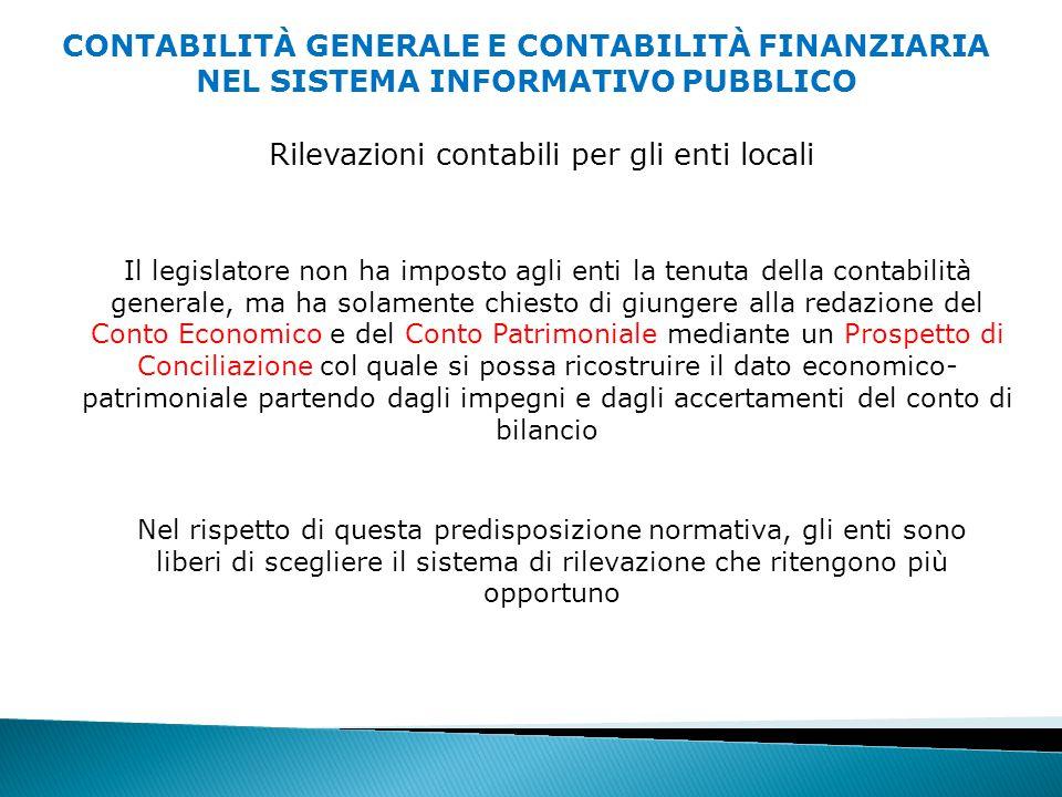 Rilevazioni contabili per gli enti locali