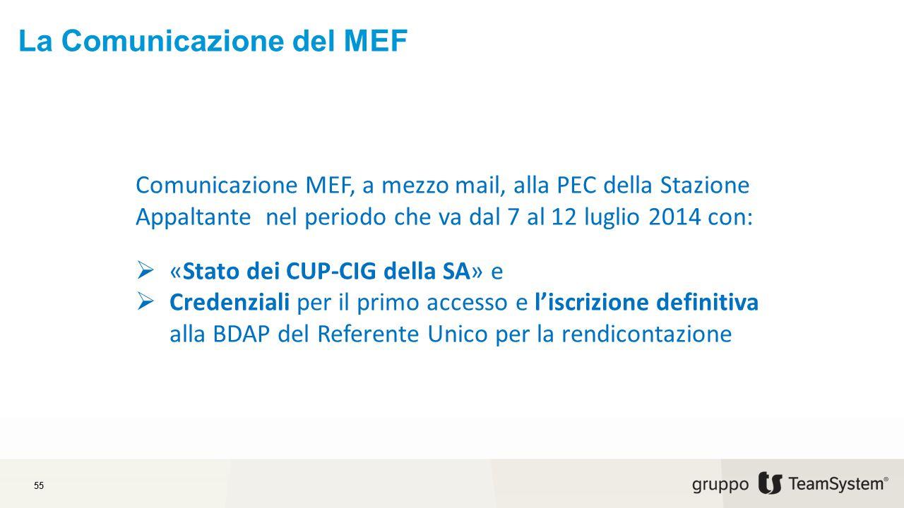 La Comunicazione del MEF
