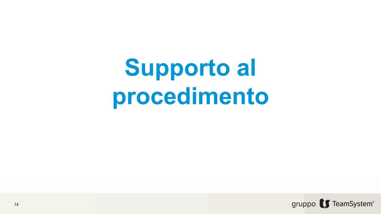Supporto al procedimento