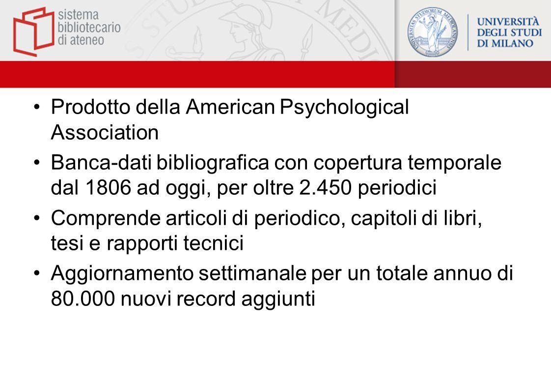 Prodotto della American Psychological Association