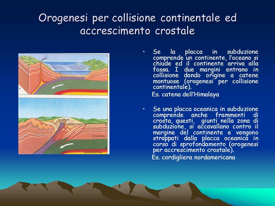 Orogenesi per collisione continentale ed accrescimento crostale