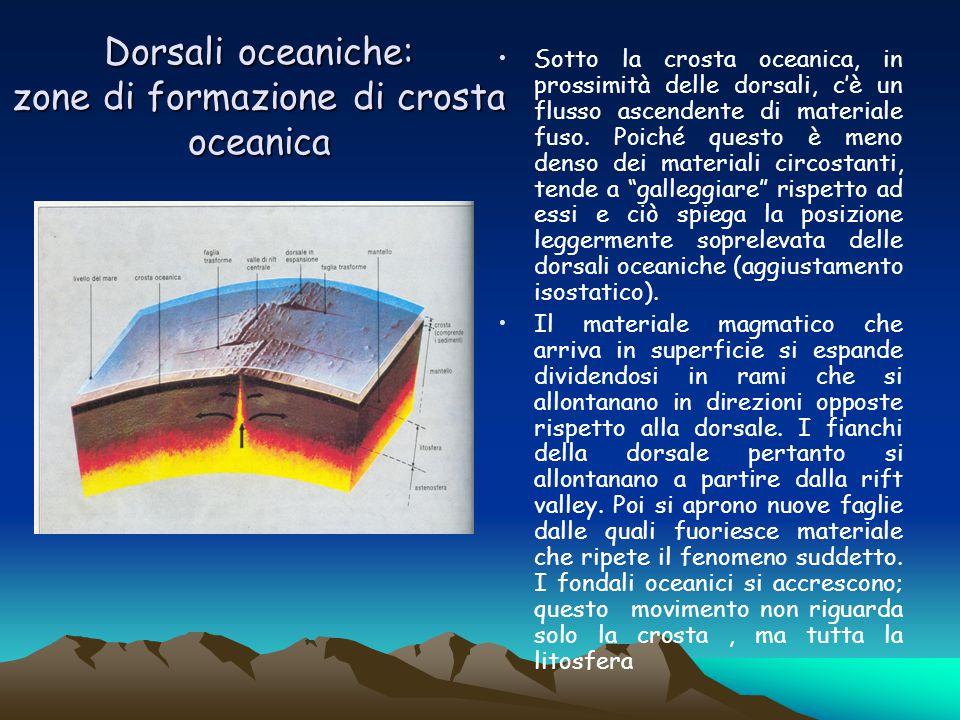 Dorsali oceaniche: zone di formazione di crosta oceanica