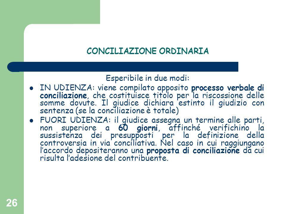 CONCILIAZIONE ORDINARIA