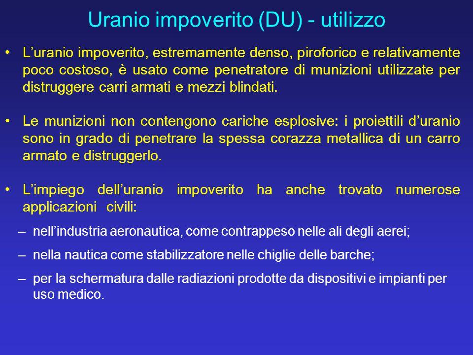 Uranio impoverito (DU) - utilizzo