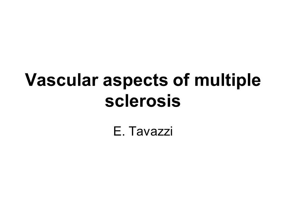 Vascular aspects of multiple sclerosis