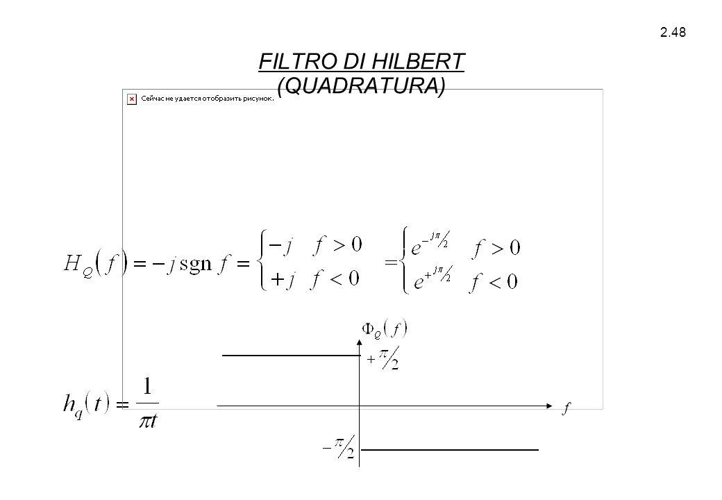 FILTRO DI HILBERT (QUADRATURA)