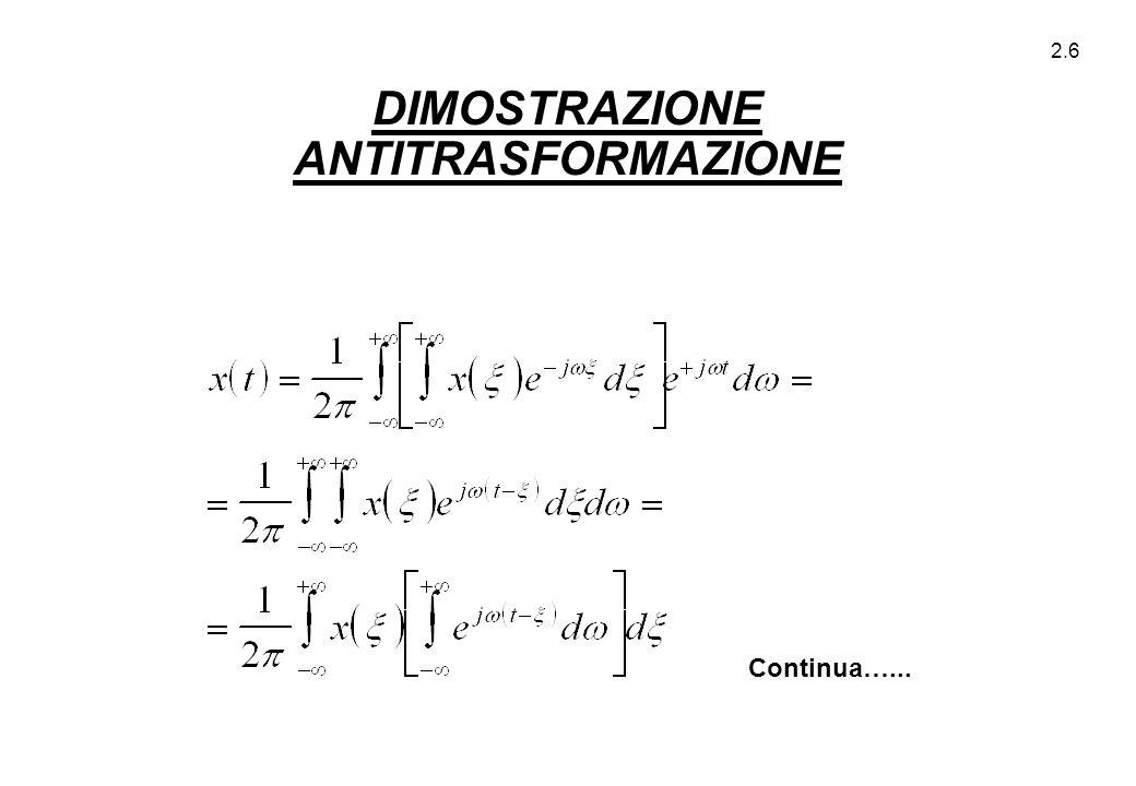 DIMOSTRAZIONE ANTITRASFORMAZIONE