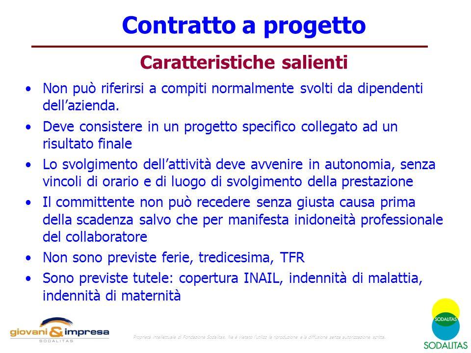 Contratto a progetto Caratteristiche salienti