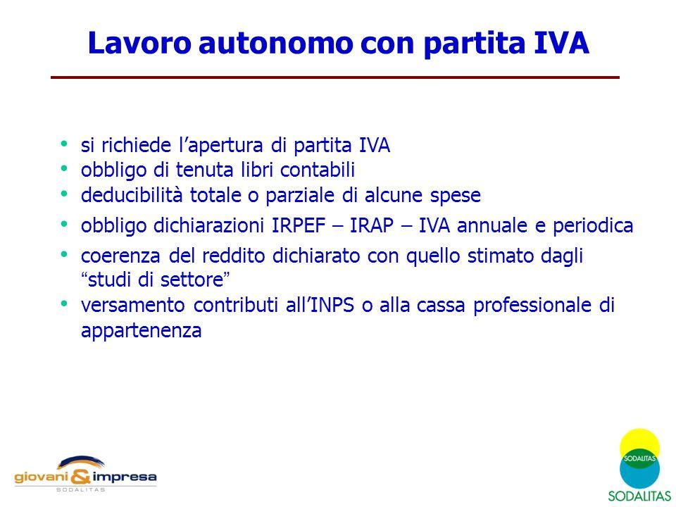 Lavoro autonomo con partita IVA