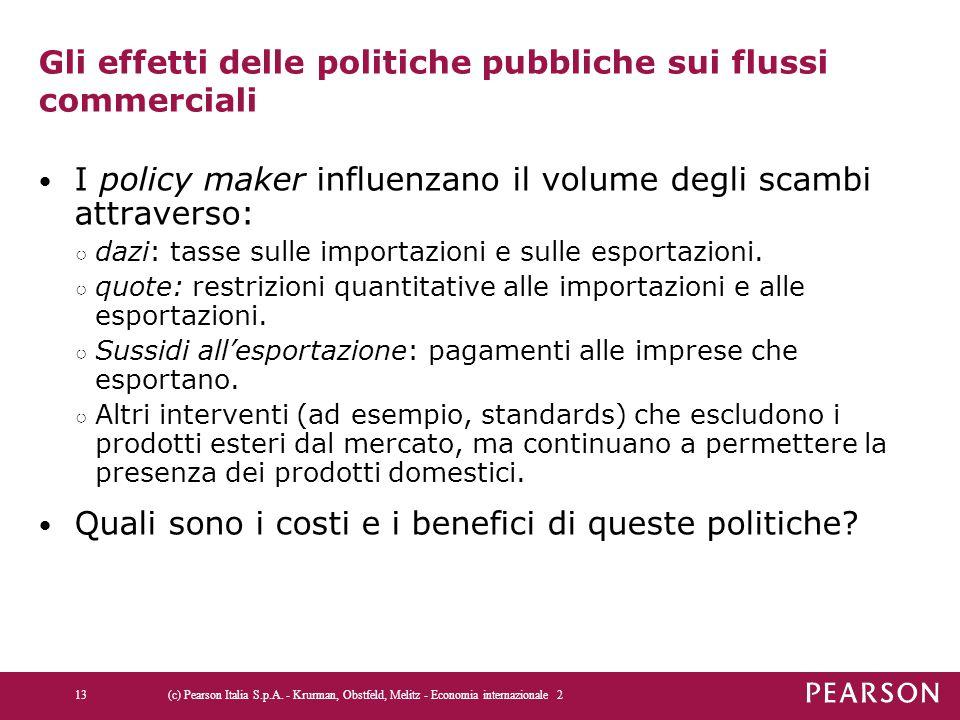 Gli effetti delle politiche pubbliche sui flussi commerciali
