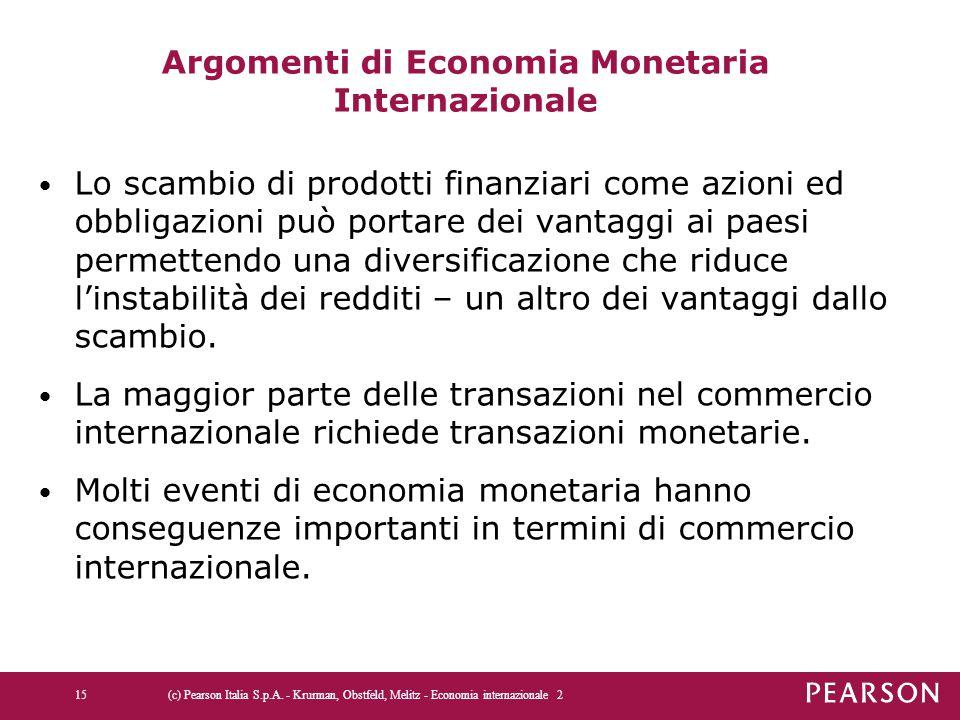 Argomenti di Economia Monetaria Internazionale