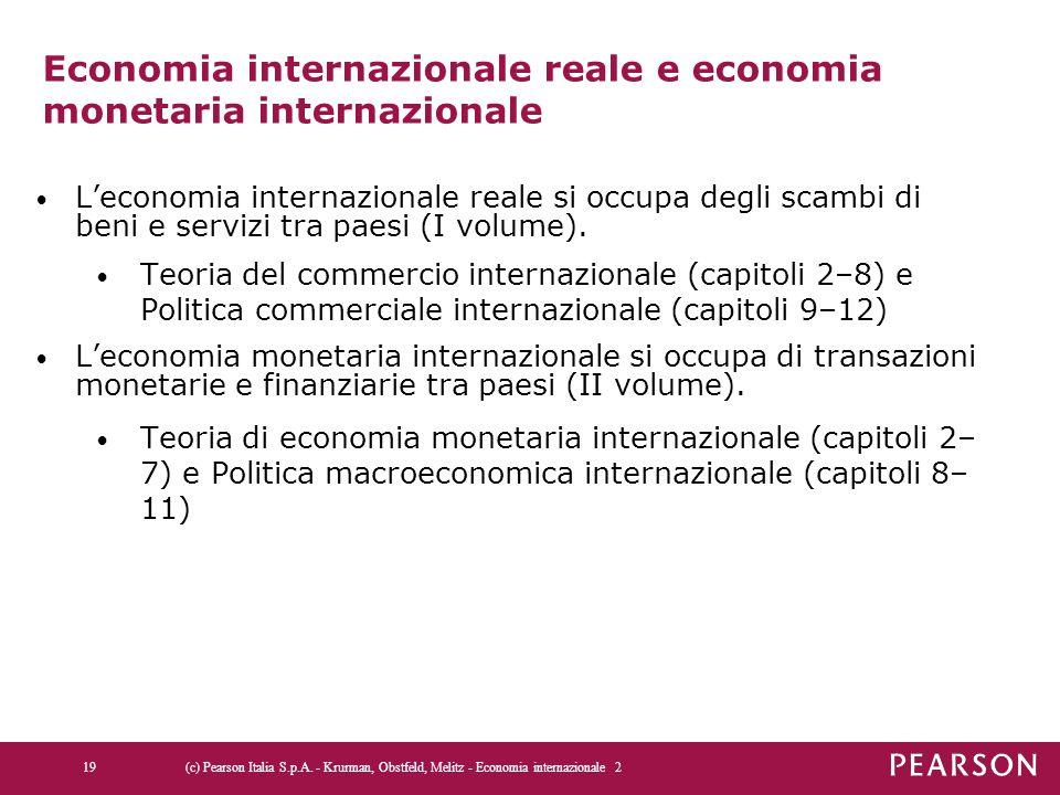 Economia internazionale reale e economia monetaria internazionale