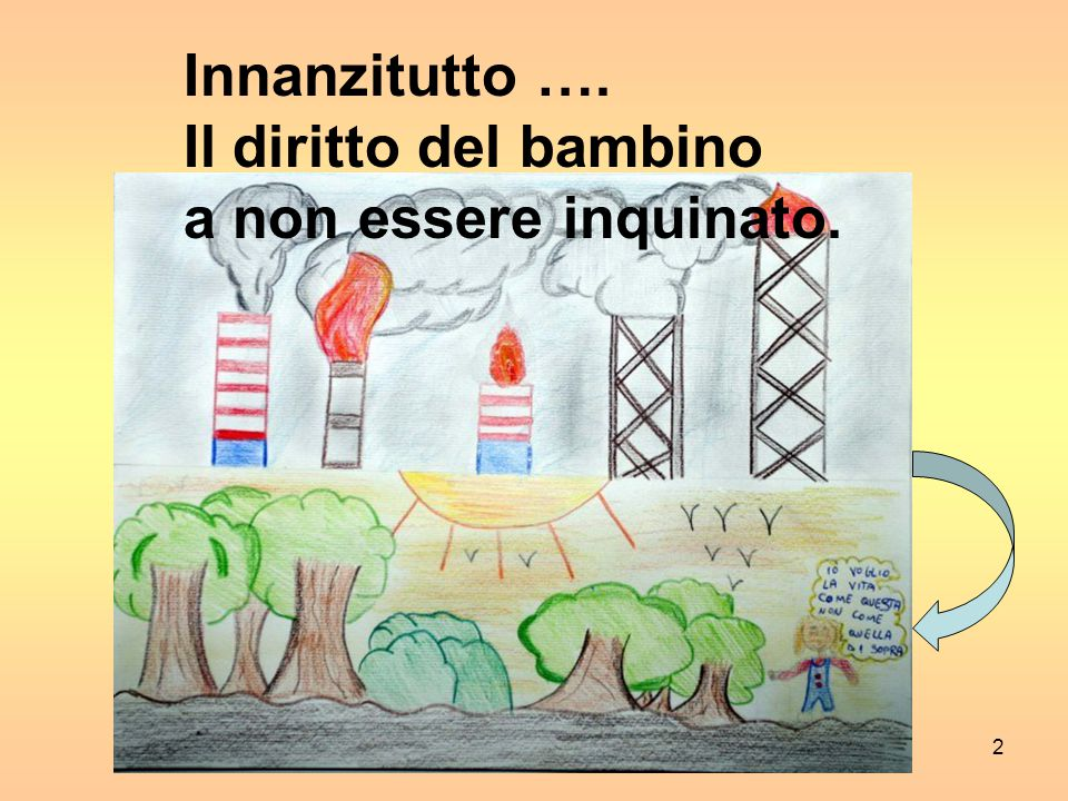 Innanzitutto …. Il diritto del bambino a non essere inquinato.