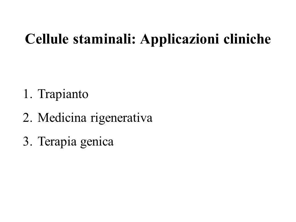 Cellule staminali: Applicazioni cliniche