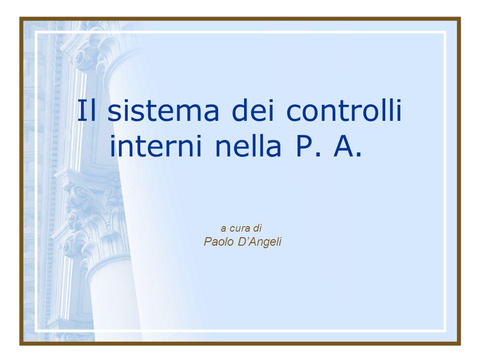Il sistema dei controlli interni nella P. A.