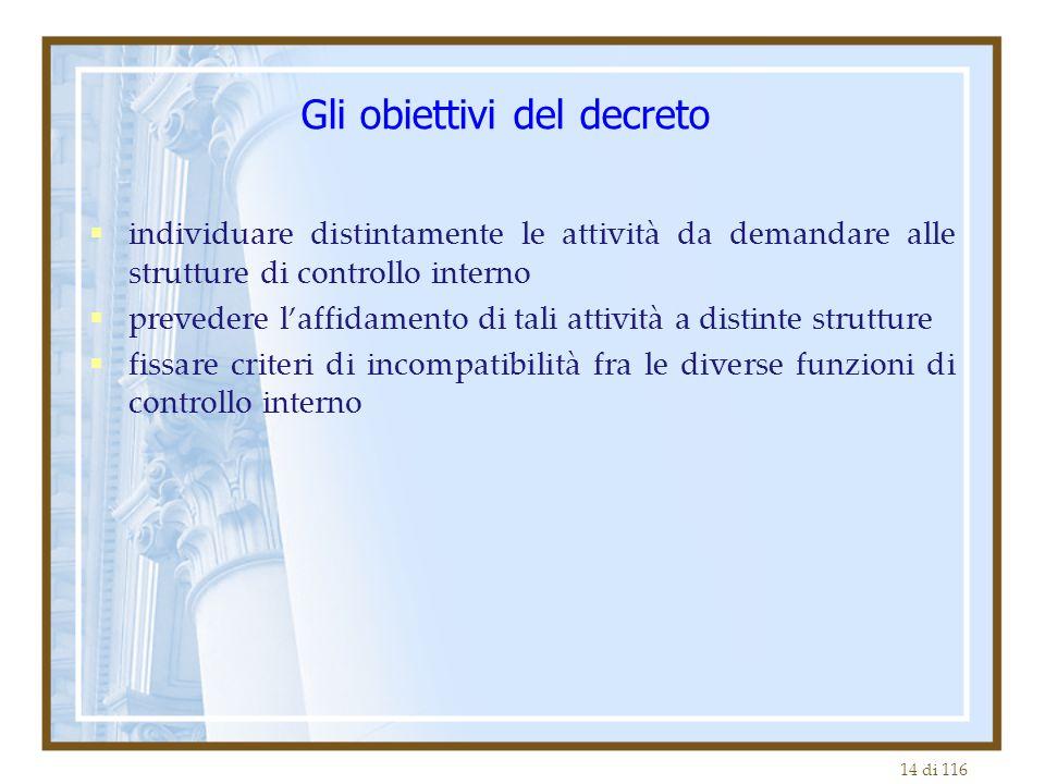 Gli obiettivi del decreto