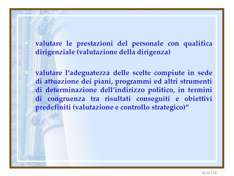valutare le prestazioni del personale con qualifica dirigenziale (valutazione della dirigenza)