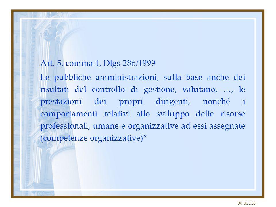 Art. 5, comma 1, Dlgs 286/1999