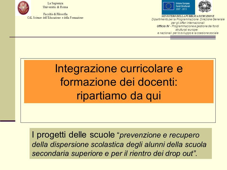 Integrazione curricolare e formazione dei docenti: ripartiamo da qui
