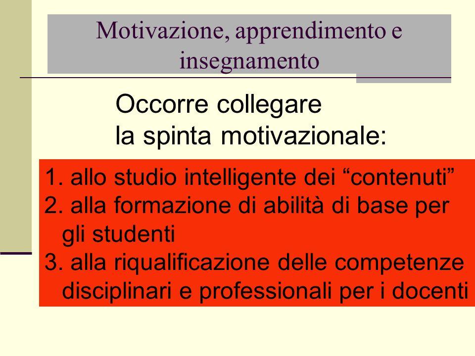 Motivazione, apprendimento e insegnamento
