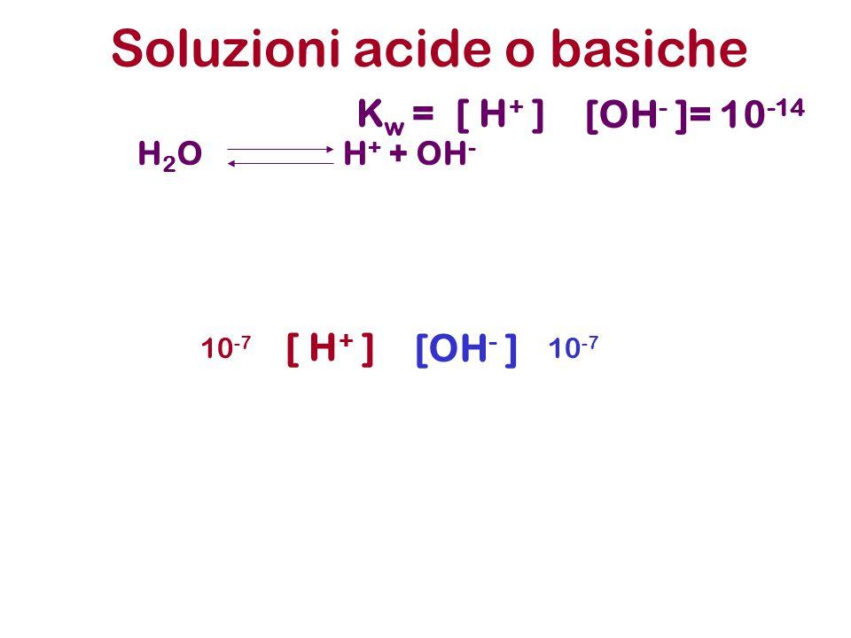 Soluzioni acide o basiche