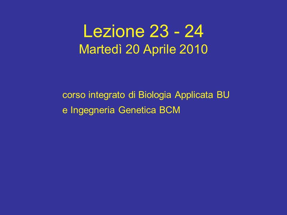 Lezione 23 - 24 Martedì 20 Aprile 2010