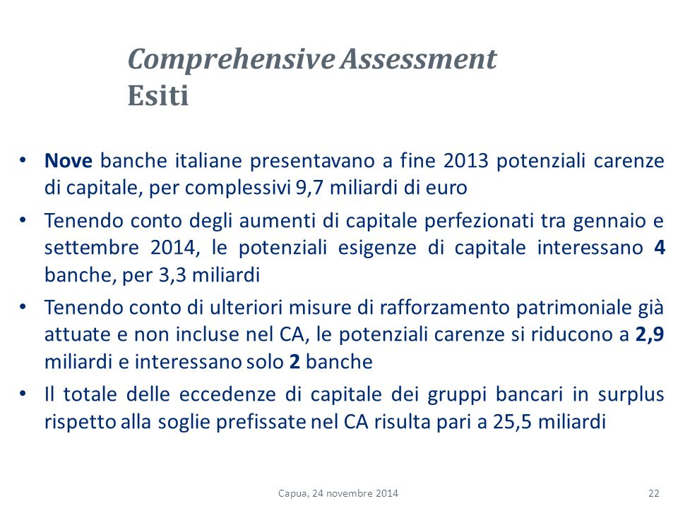 Comprehensive Assessment Esiti