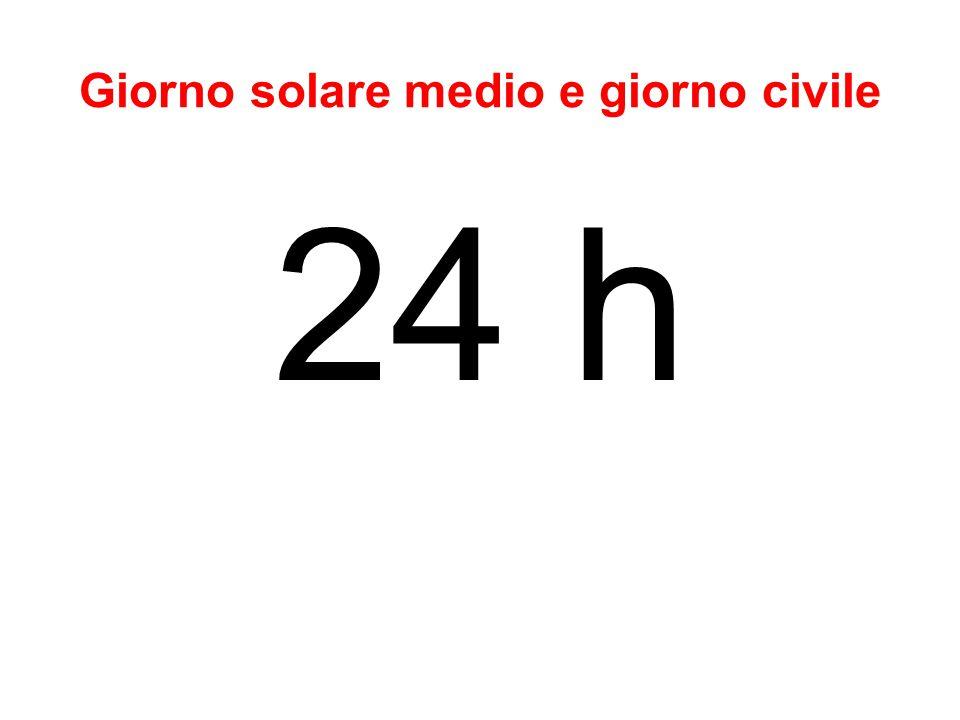 Giorno solare medio e giorno civile