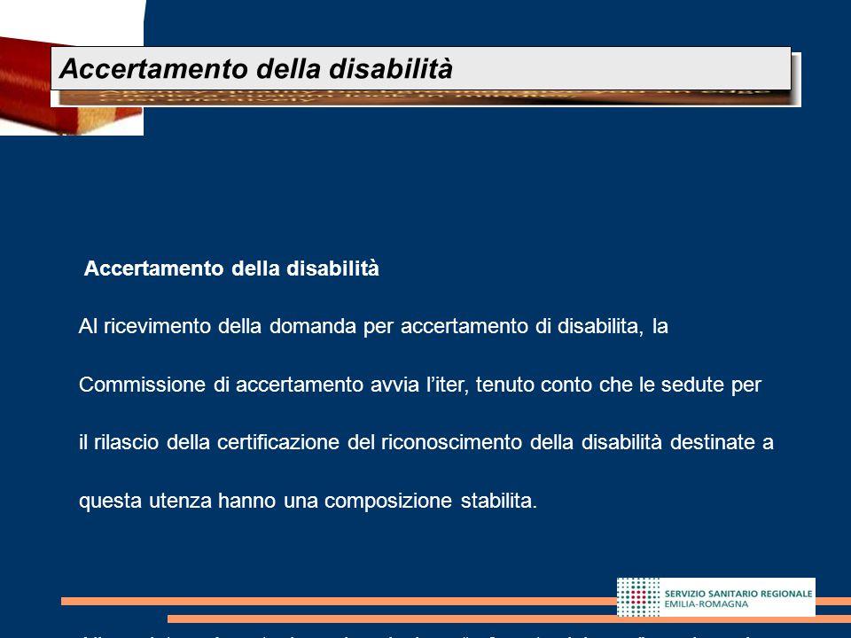 Accertamento della disabilità