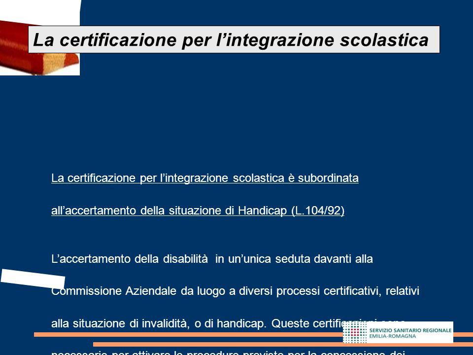 La certificazione per l'integrazione scolastica