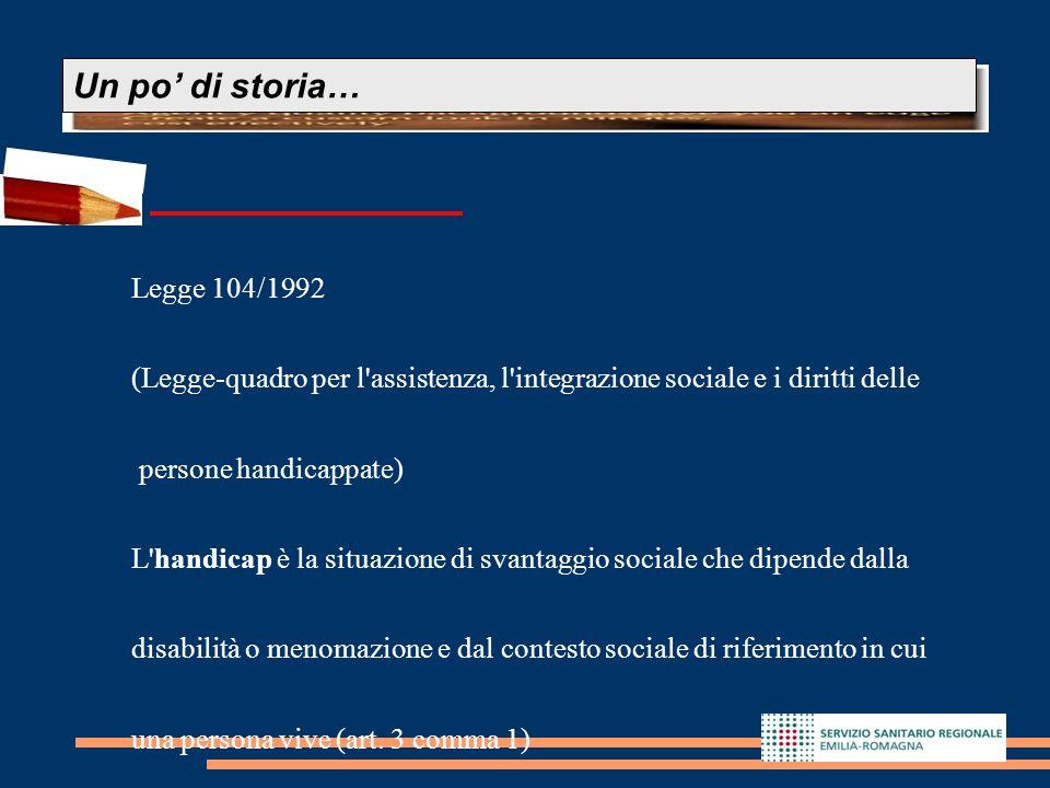 Un po' di storia… Legge 104/1992