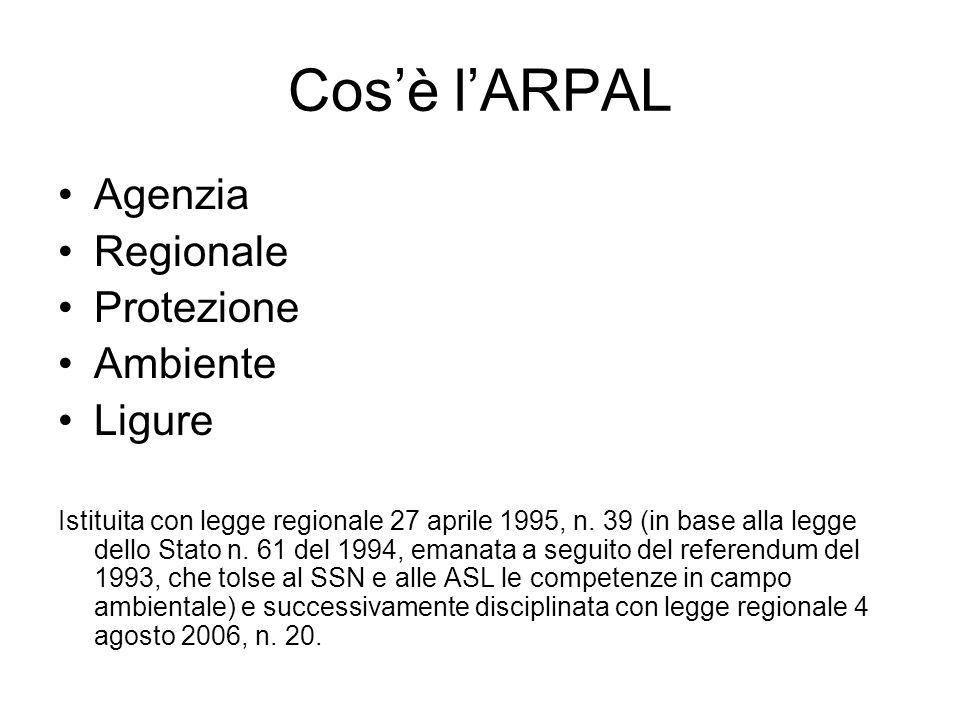 Cos'è l'ARPAL Agenzia Regionale Protezione Ambiente Ligure