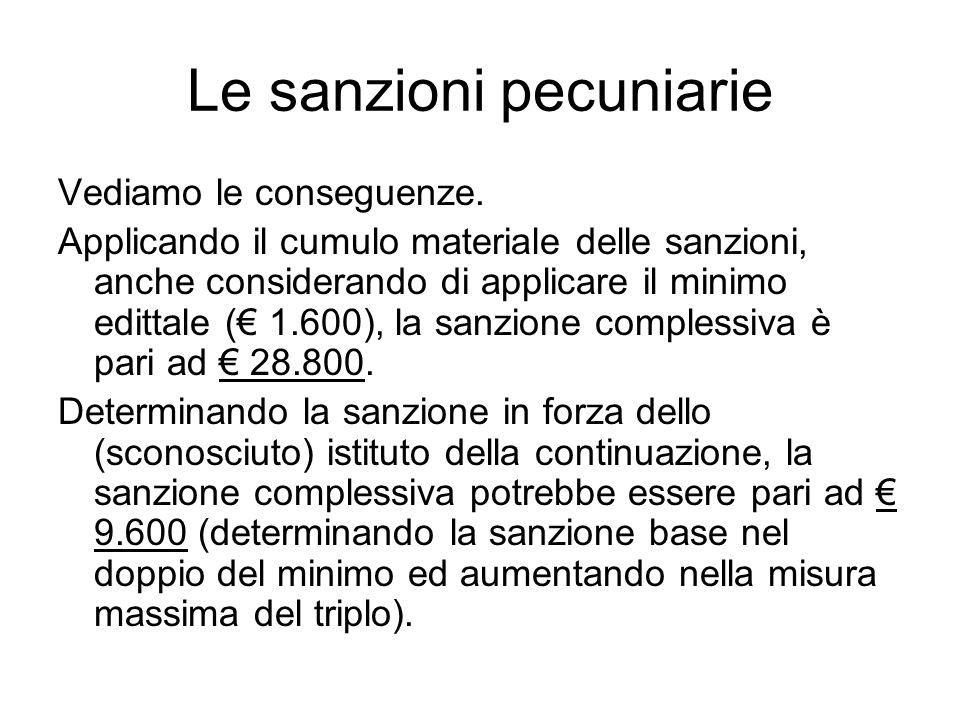 Le sanzioni pecuniarie