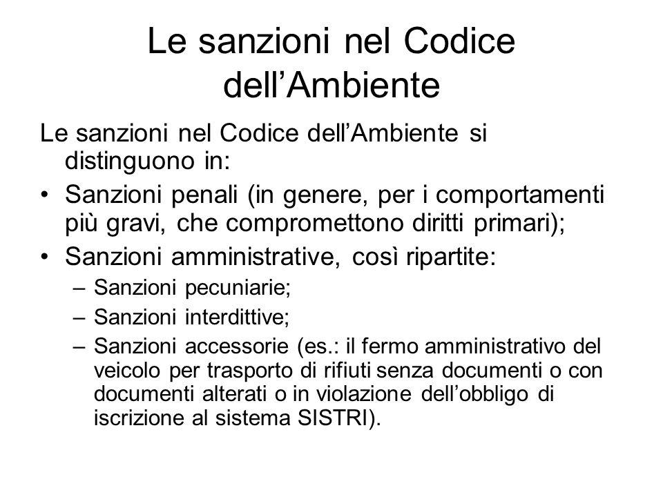 Le sanzioni nel Codice dell'Ambiente