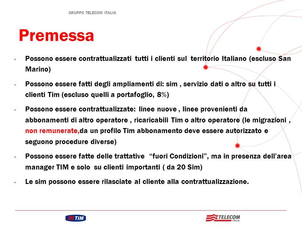 Premessa Possono essere contrattualizzati tutti i clienti sul territorio Italiano (escluso San Marino)