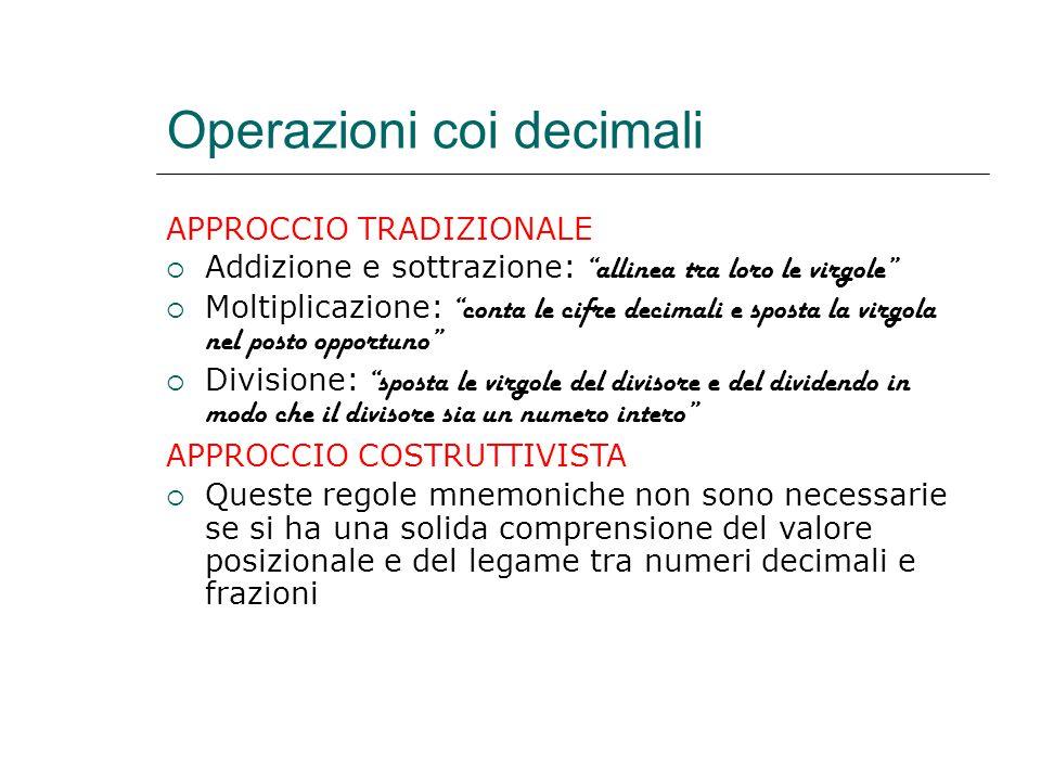 Operazioni coi decimali