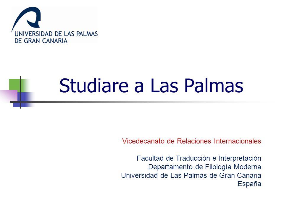 Studiare a Las Palmas Vicedecanato de Relaciones Internacionales