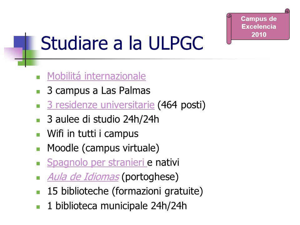 Studiare a la ULPGC Mobilitá internazionale 3 campus a Las Palmas
